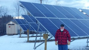 Norwich Solar Technologies EZ-PV panels at Vermeer Solar in Canaan, NH