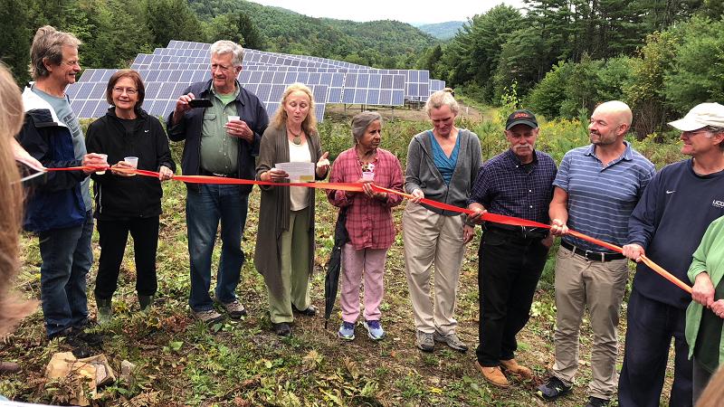 thetford starffor vermont community solar PV ribbon cutting